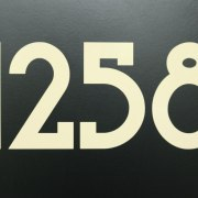 Blue Plate Mailbox Numbers Beige