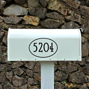 Gandalf Mailbox Numbers with border - Black