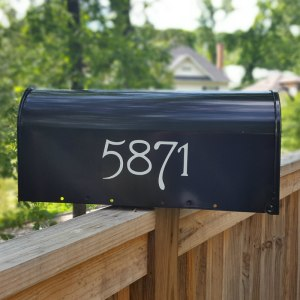Guttenberg Mailbox Numbers White