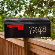 Guttenberg mailbox numbers in Beige