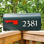 Redressed Mailbox Numbers White