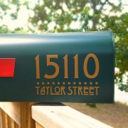 Arts & Crafts style mailbox decals