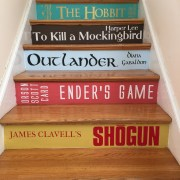 DIY Book Stair lettering