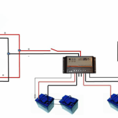 Marine Dual Battery Wiring Diagram Robus Room Thermostat Solar Panel Pwm Charge Controller Daul Bank