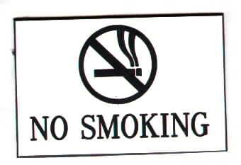 no smoking signs by
