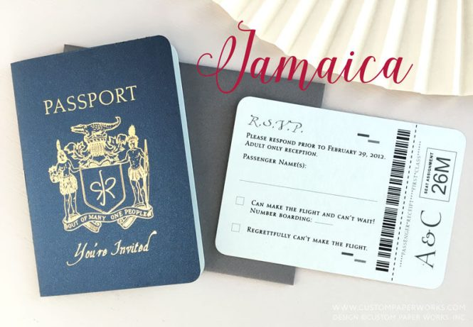 Jamaica Passport Invitations Custom Paper Works