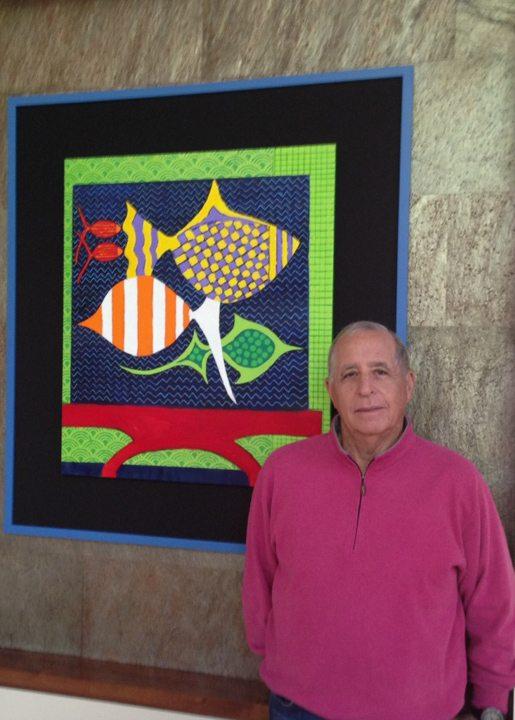 Joel Glickman With His Artwork