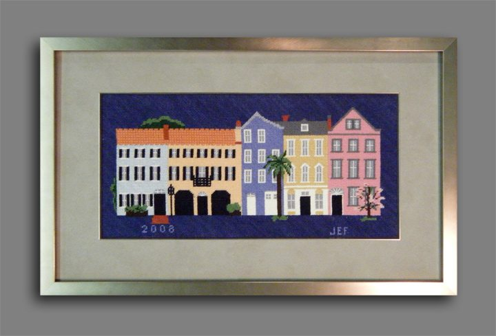 Needlepoint in a Modern Frame