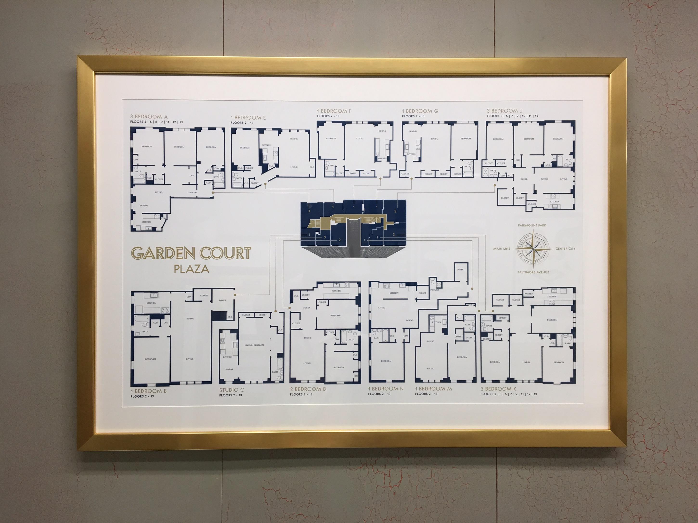 Floor Plan Layout for the Garden Court Plaza in Philadelphia Custom ...