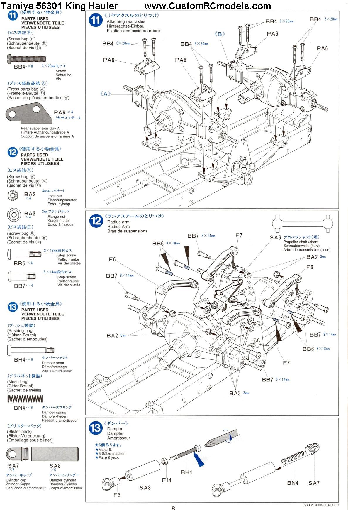 Jual transmitter rc car, tamiya king hauler manual