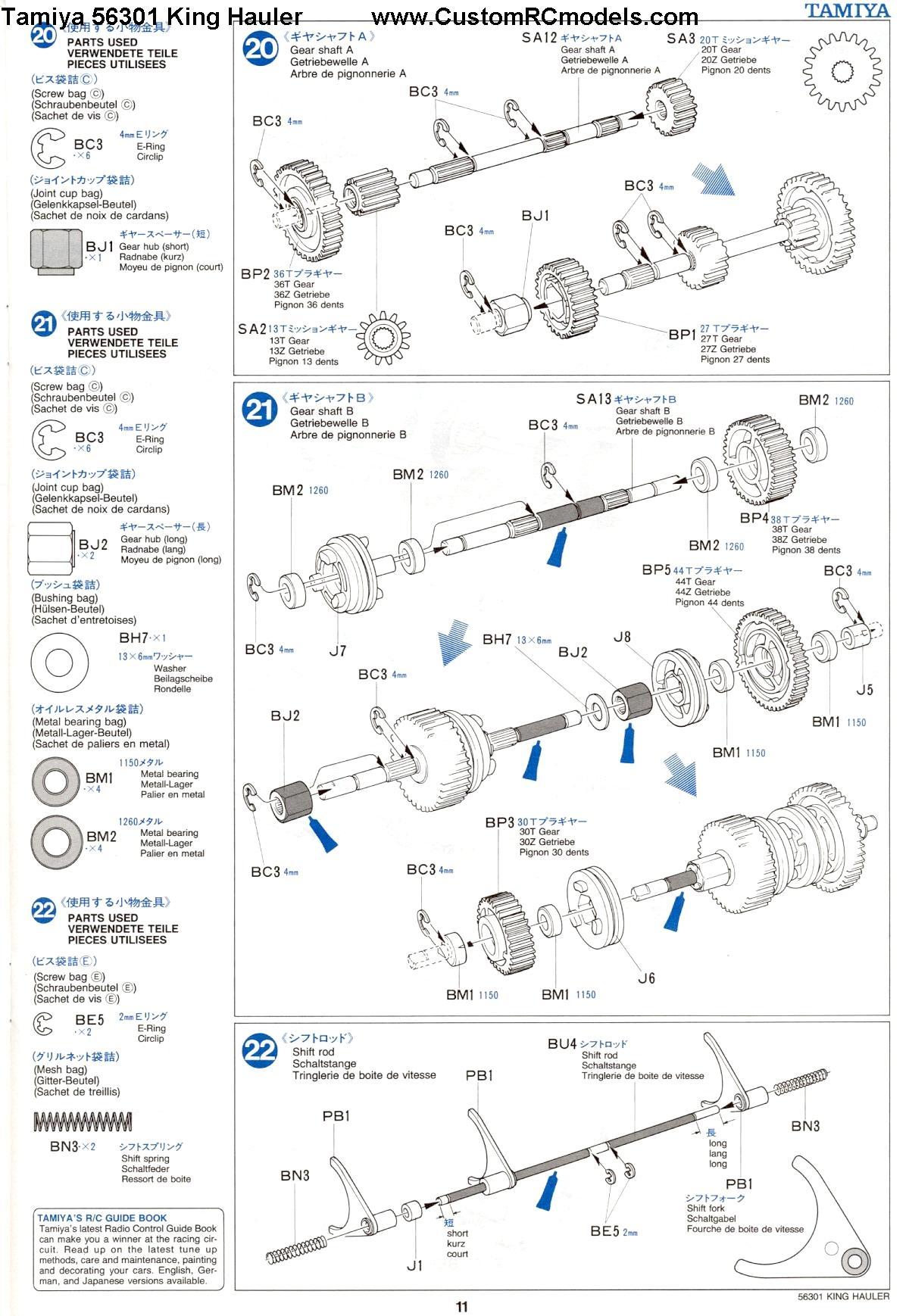 Tamiya 56301 King Hauler manual page 11