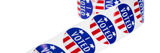 Roll of I Voted Stickers