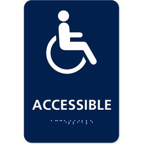 ADA Accessible Sign with International Symbol of Accessibility