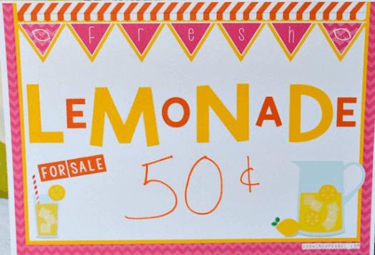 Lemonade Stand Yard Sign