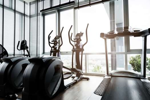 Exercise Equipment in Front of Window