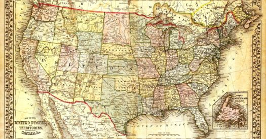 Map of the Continental United States of America