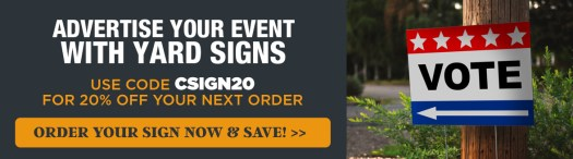 Get 20% Off Your Order with Code CSIGN20, Vote Arrow Sign