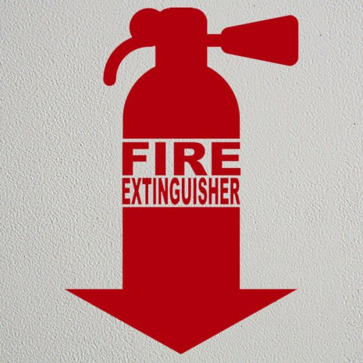 Red Fire Extinguisher Decal