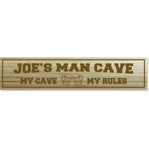 custom man cave engraved wood sign