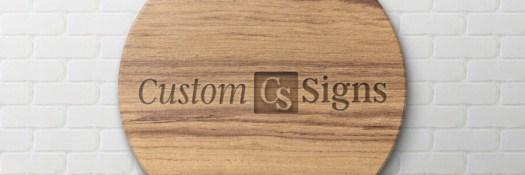 custom engraved wood sign