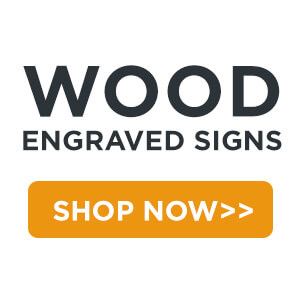 wood engraved signs shop now