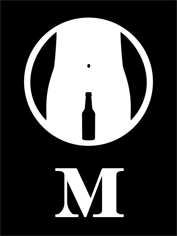 Engraved Rectangle Mens Bathroom Funny Beer Bottle Sign  Custom Signs