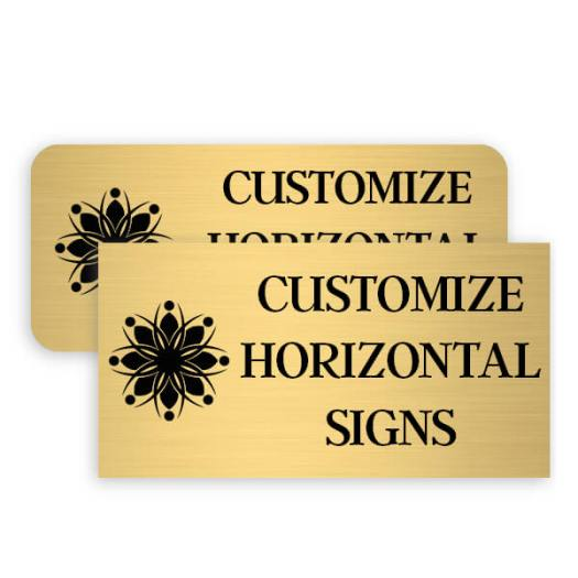 Brass Engraved Horizontal Signs