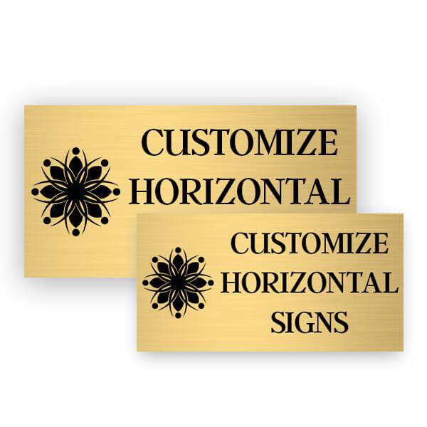 engraved brass plates metal