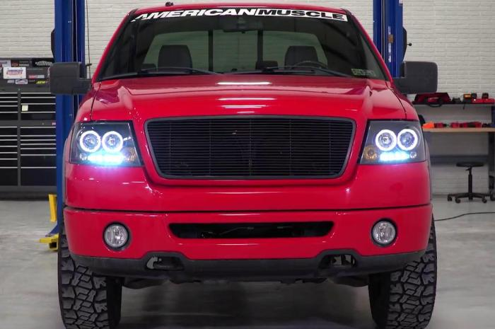 How to install the Dual Halo LED Projector Headlight in 2004-2008 Ford F150