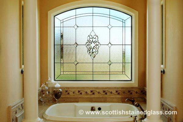 Bathroom Stained Glass arch