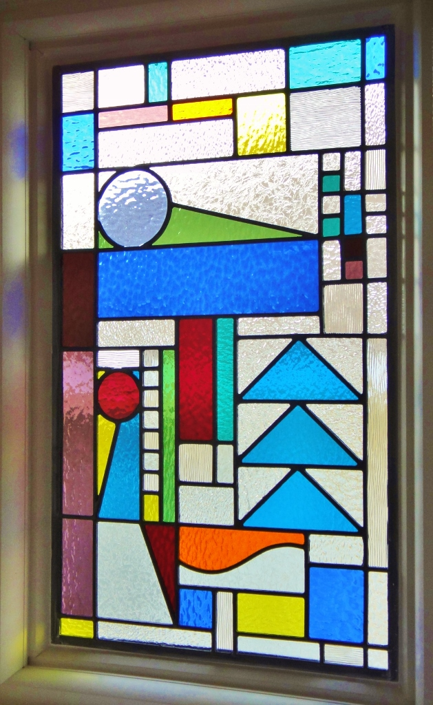 Celtic Stained Glass large abstract