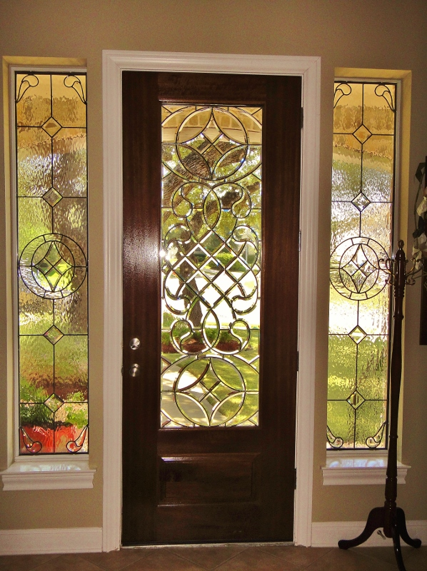 Entryway Stained Glass with Floral design