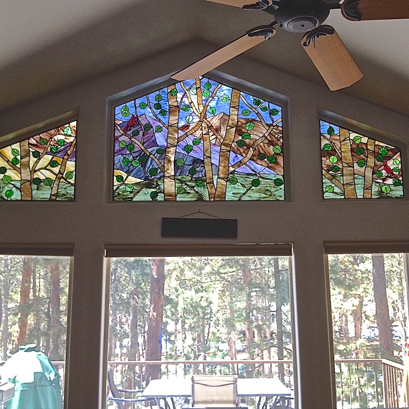 Religious Stained Glass transom