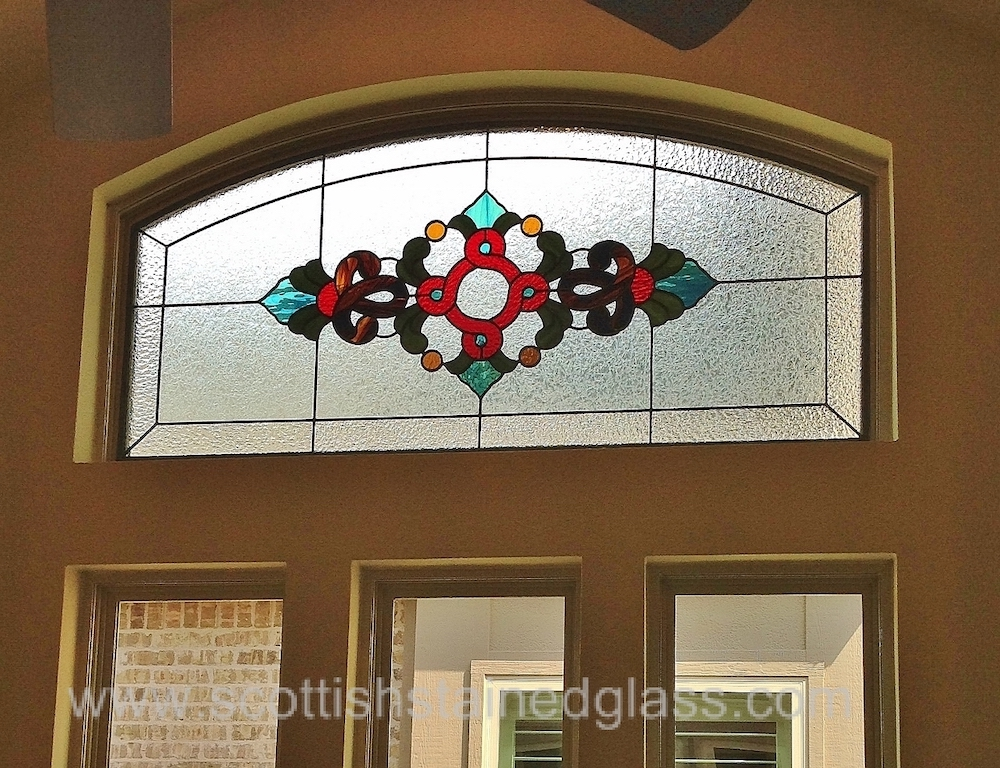 Transom Stained Glass celtic