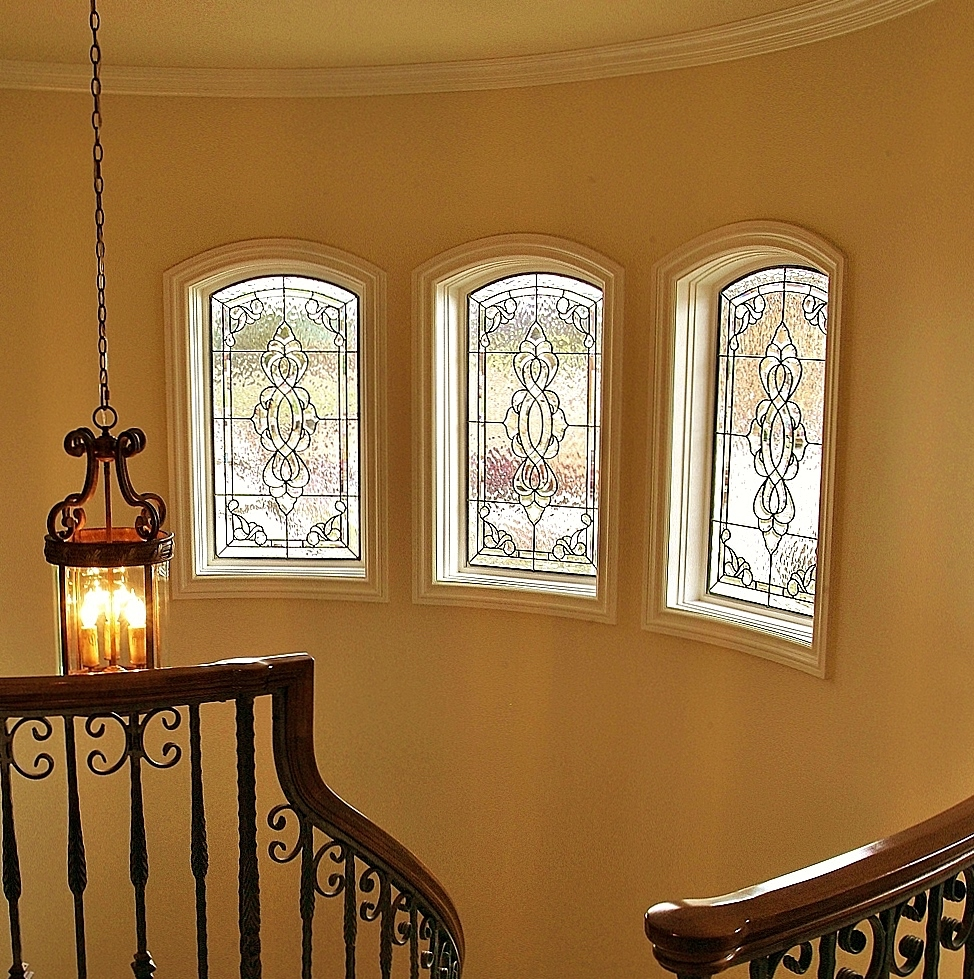 Transom Stained Glass hallway