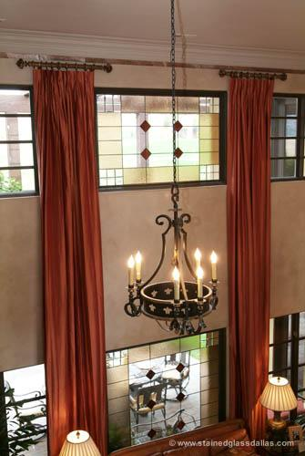 dining room stained glass