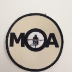 circle patch with MOA targets logo