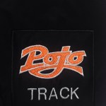 Square applique patch with pojo track