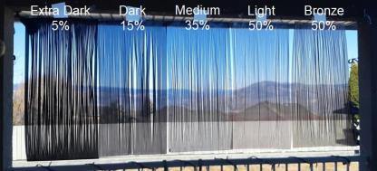 Window Tint 5 Shade Comparison