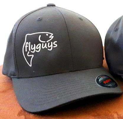 FlexFit Fishing Hats - B&W