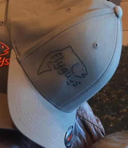 flyguys FlexFit Fishing Hat - Charcoal with Black Logo