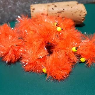 Blobber Blob Fly Pattern - Flo Orange