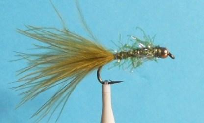 UV2 Straggle Leech Fly - Olive & Gold