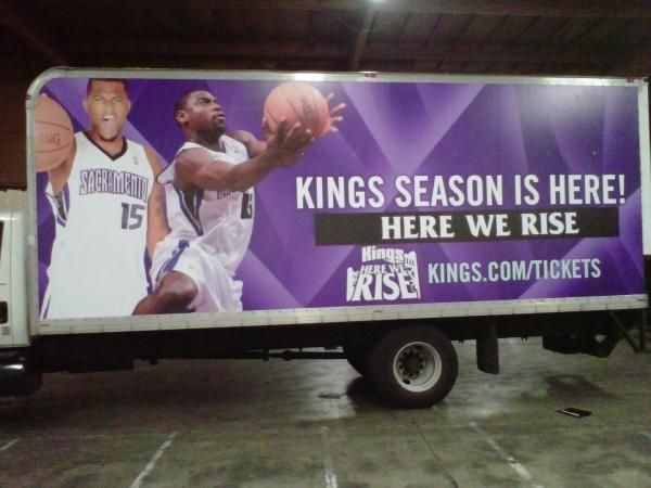 Sacramento Kings Box Truck Wrap
