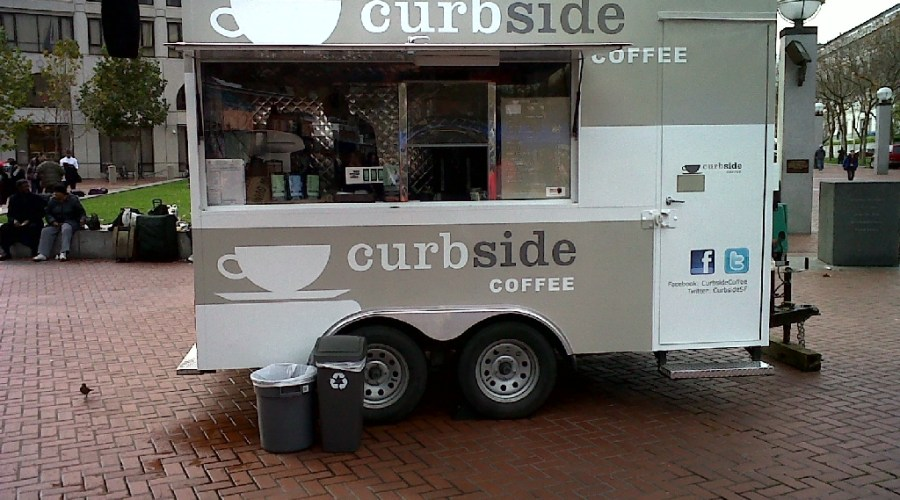 Curbside Coffee – Kiosk Graphic Wrap