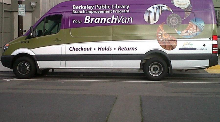 Sprinter Van Wrap for the Berkeley Public Library
