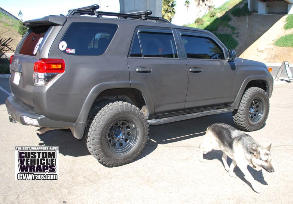 Toyota 4runner Avery Matte Black Wrap Custom Vehicle Wraps