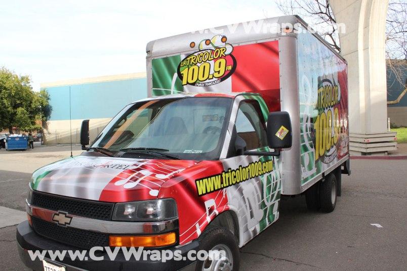 Tricolor Truck Wrap