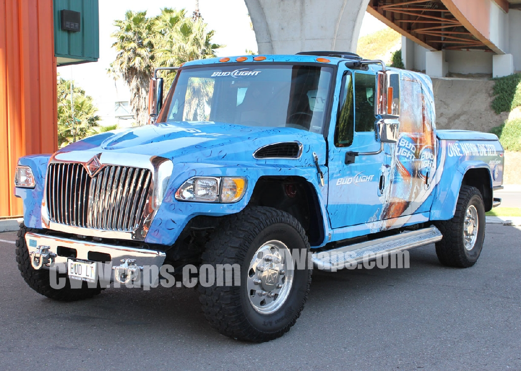 Bud Light Promotional Beer Truck Custom Vehicle Wraps