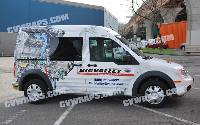 Ford Transit Wrap for Big Valley Ford in Stockton